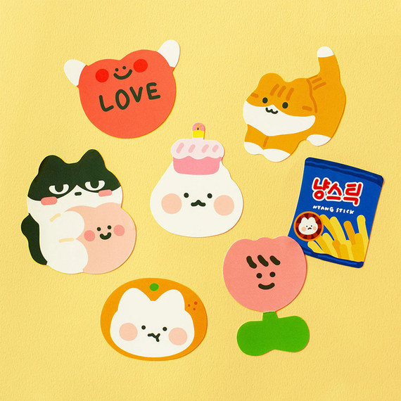 Anyang kitty daily life removable waterproof sticker