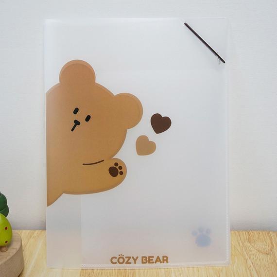 N.IVY Hi Cozy Bear translucent document file holder