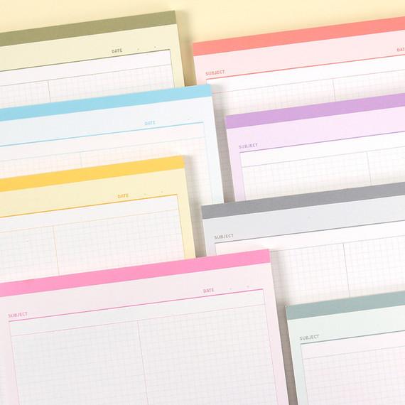 Wanna This Standard writing B5 half divided grid notepad