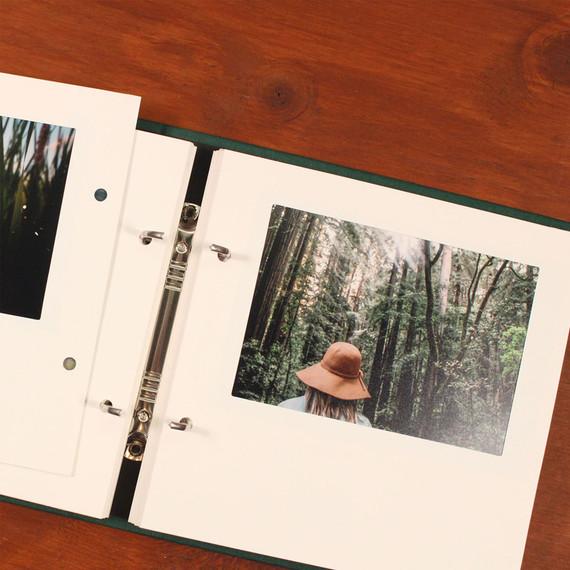 Light 4X6 Slip In Photo Album 2 Ring Binder