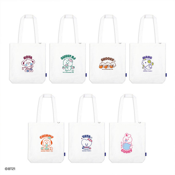 BT21 Jelly Candy Baby Canvas Cotton Tote Bag