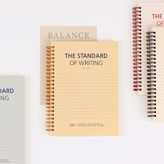 Wanna This Standard Writing A5 Wire Bound Lined Notebook