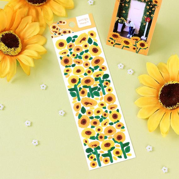 Wanna This Forest's Sunflower Paper Sticker