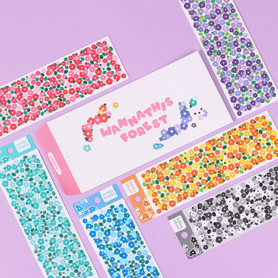 Wanna This Forest's Monggeul Flower Paper Sticker Pack