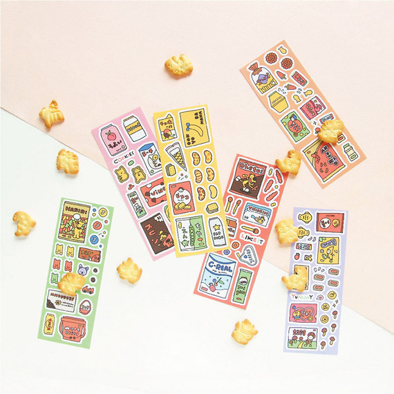 Jam studio Jam Shop Snack Paper Sticker 01-06