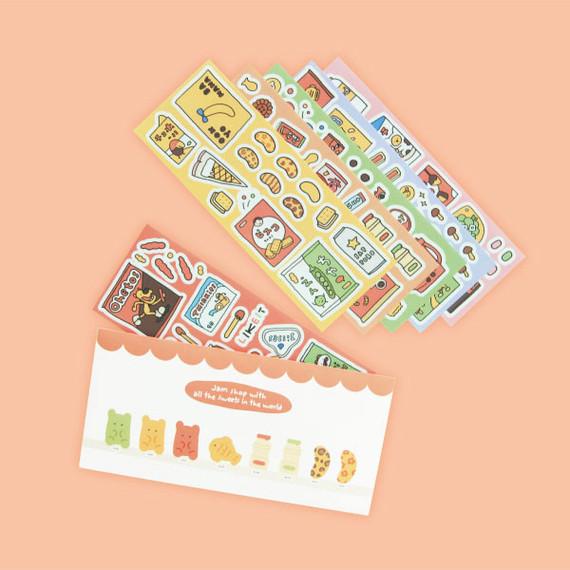 Jam studio Jam Shop Snack Paper Sticker Pack 01-06