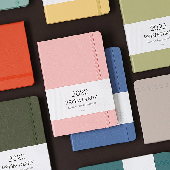 Indigo 2022 Prism B6 Dated Monthly Diary Planner