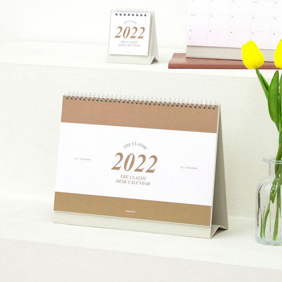 Wanna This 2022 Classic A4 Size Dted Monthly Desk Calendar