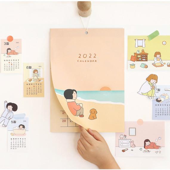 Indigo 2022 Monologue Daily Monthly Wall Calendar Sheets