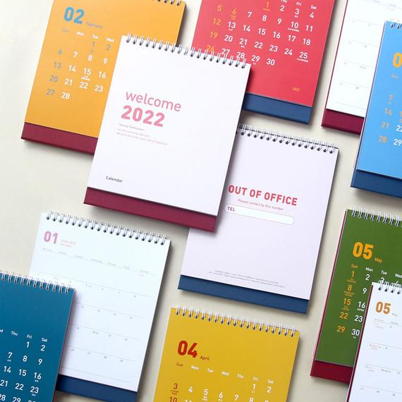 Jam Studio Welcome 2022 Monthly Desk Calendar