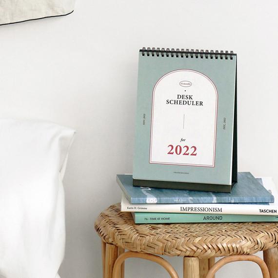 ICONIC 2022 Simple Monthly Desk Scheduler Calendar
