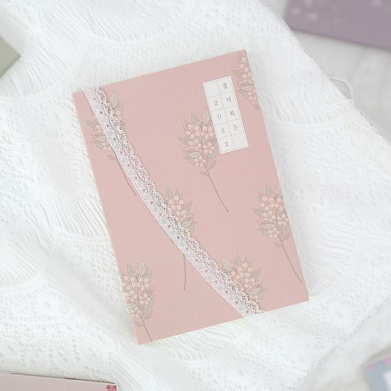 3AL 2022 Flowery Dated Weekly Diary Planner