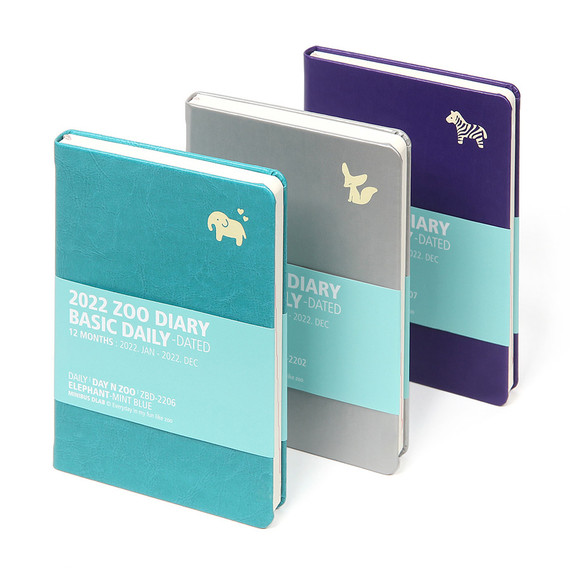 MINIBUS 2022 Zoo Basic Dated Daily Diary Scheduler