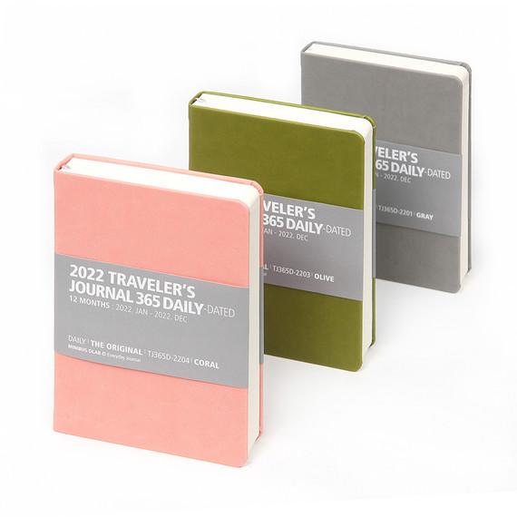MINIBUS 2022 Traveler's 365 Days Dated Daily Diary journal