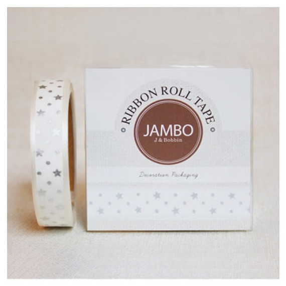 Flora silver ivory roll tape