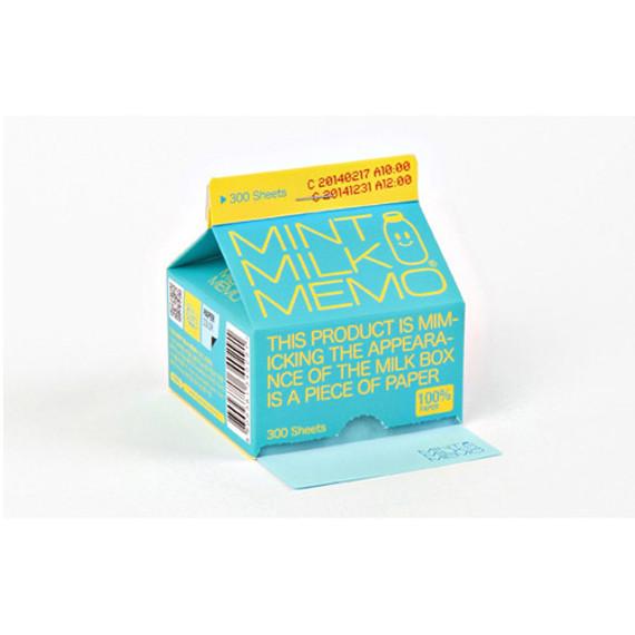 Mint milk memo pad 300 sheets