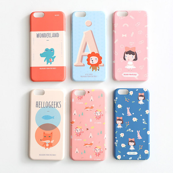 Hellogeeks from the forest pattern case for iPhone 6 plus