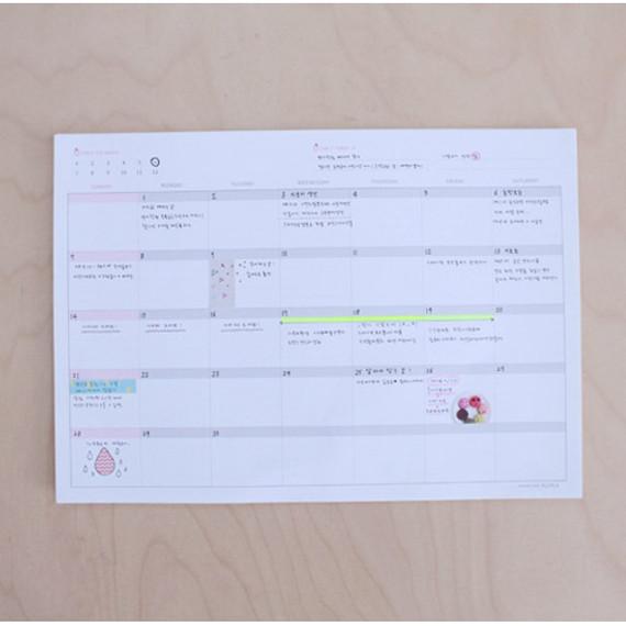 Monthly undated planner scheduler paper