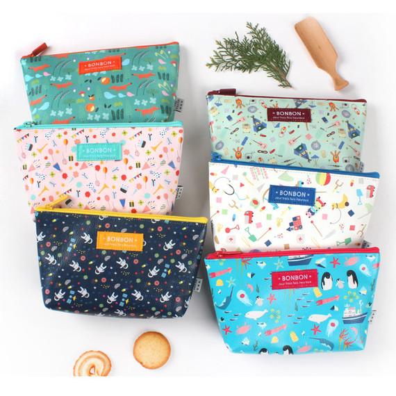 Bon Bon pattern daily zipper pouch medium
