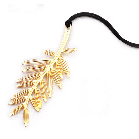 Palm tree gold plated bookmark