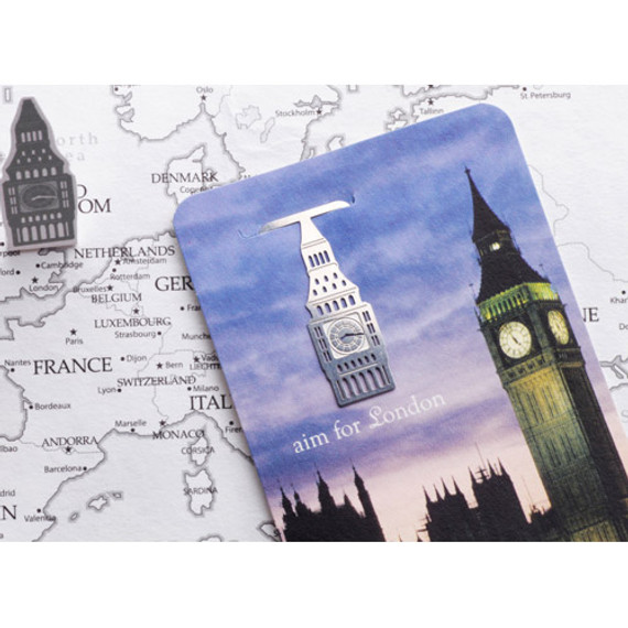 Aim for london steel bookmark