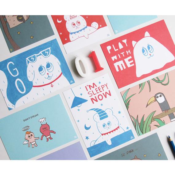 Star bi illustration cute message card