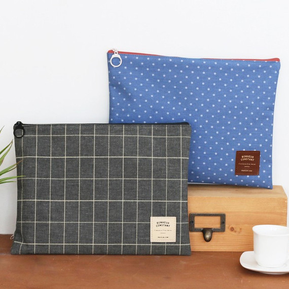 Basic pattern large zipper pouch ver.2