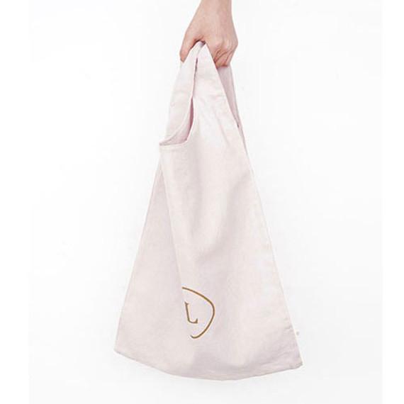 Natural - Linen 2 rectangle eco basket tote bag