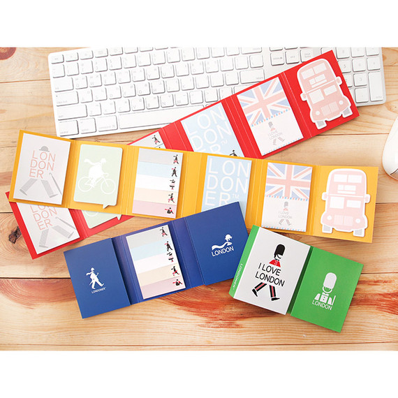London folding memo note set