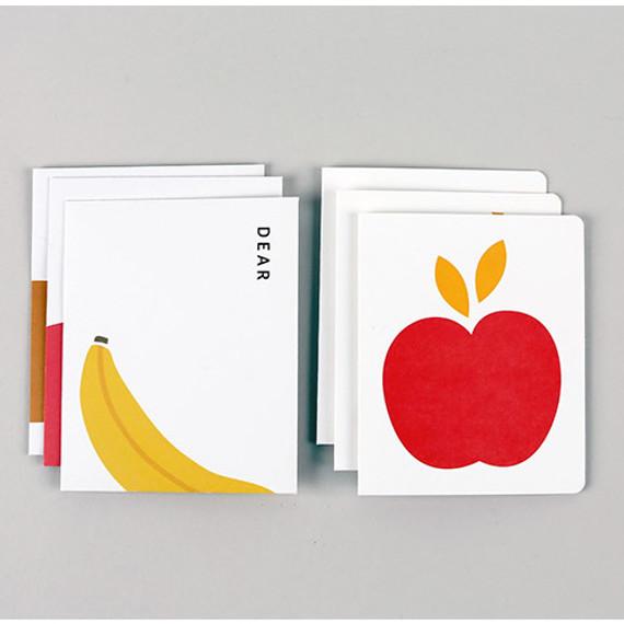 Fruits illustration card set