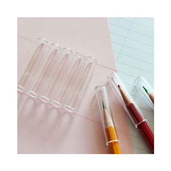 Clear pencil cap set
