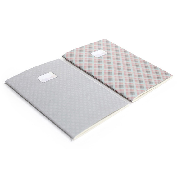 Natural and Pure pattern A5 lined notebook