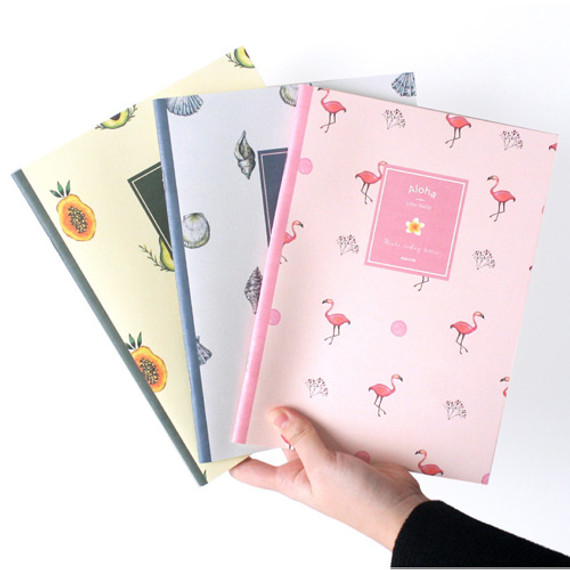 Make today better aloha lined notebook