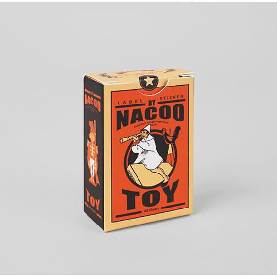 Vintage toy label paper sticker set