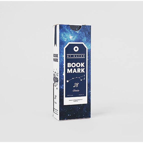 Space vintage bookmark set