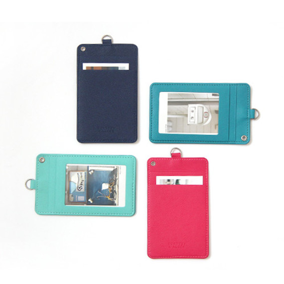 Dorothy alice flat card holder case with neck strap
