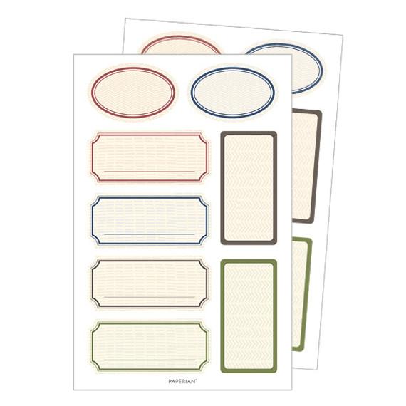 Pattern label deco stickers
