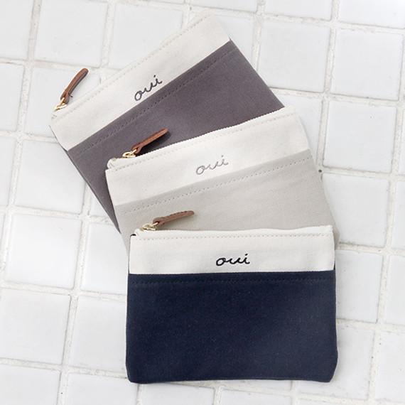 Around'D pocket zipper small pouch