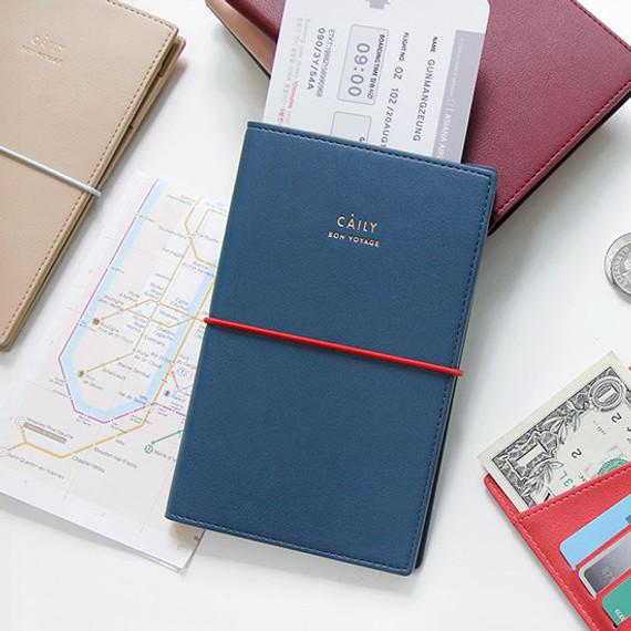 Caily bon voyage RFID blocking passport case