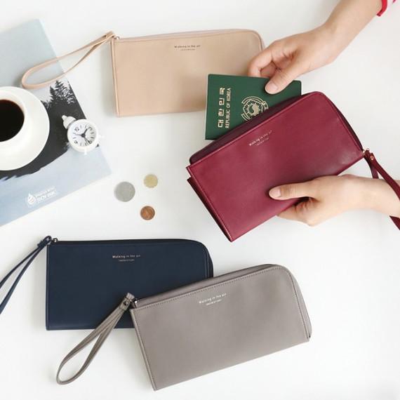Walking in the air passport organizer wallet