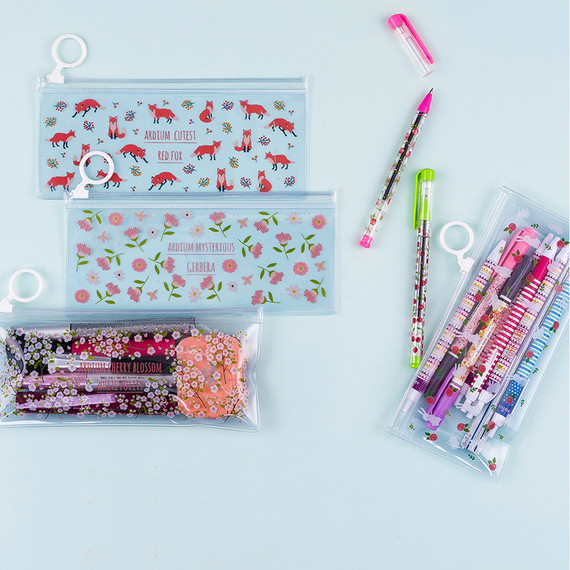 Pattern bling clear zip lock small pouch