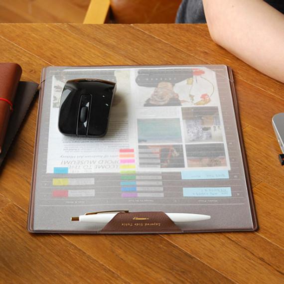 Layered side desk pad