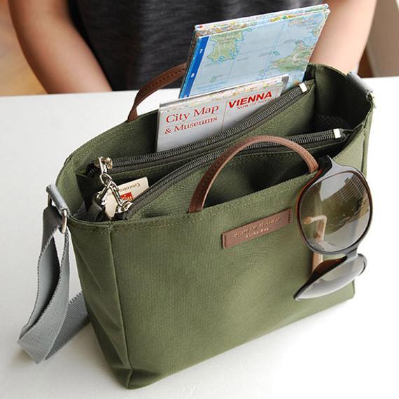 Khaki - Holiday picks cross shoulder bag