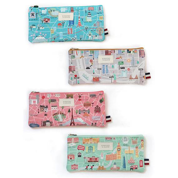 Dorothy and Alice city zipper pencil case