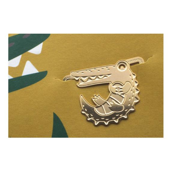 Bookfriends Crocodile steel bookmark