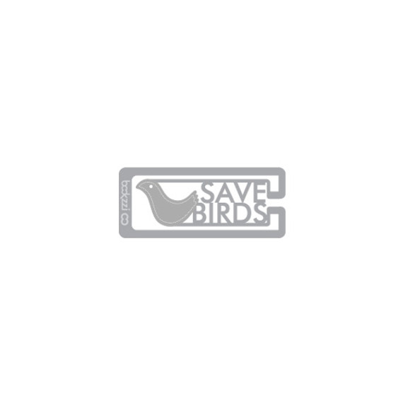 Bookfriends Save birds steel bookmark
