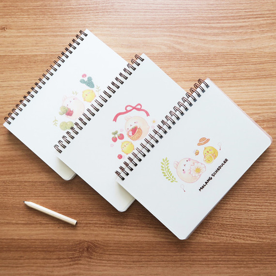 Bookcodi Molang undated weekly desk scheduler