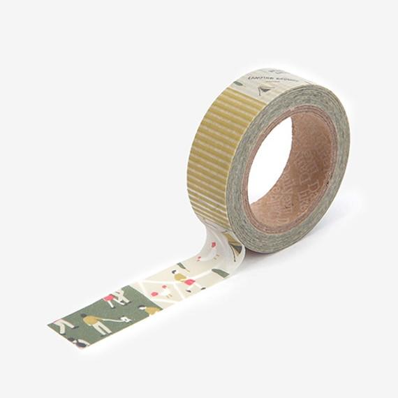 Dailylike deco Masking tape single - Camping map