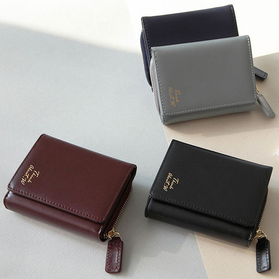 Think about w genuine leather small trifold wallet