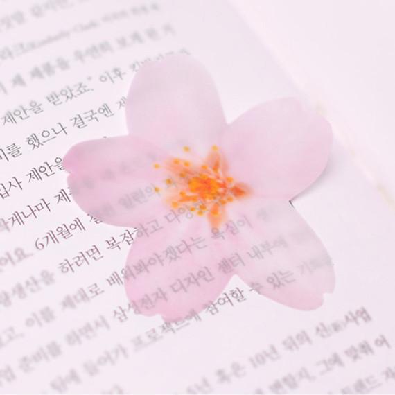 Cherry blossom transparent sticky memo notes Large